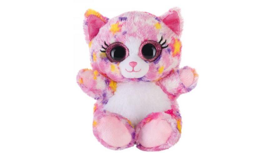 Bauer Blickfaenger und Glitter Lashy Katze pink bunt 15cm