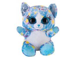 Bauer Blickfaenger und Glitter Lashy Katze blau bunt 20cm