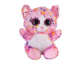 Bauer Blickfaenger und Glitter Lashy Katze pink bunt 20cm