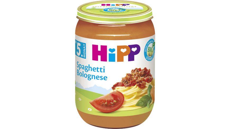 HiPP Menüs 190g: Spaghetti Bolognese, ab 5. Monat