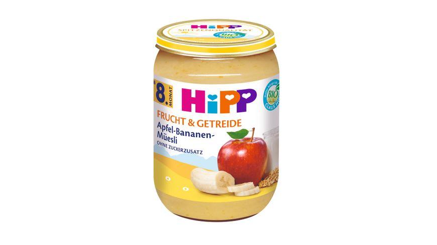 HiPP Frucht Getreide Apfel Bananen Mueesli