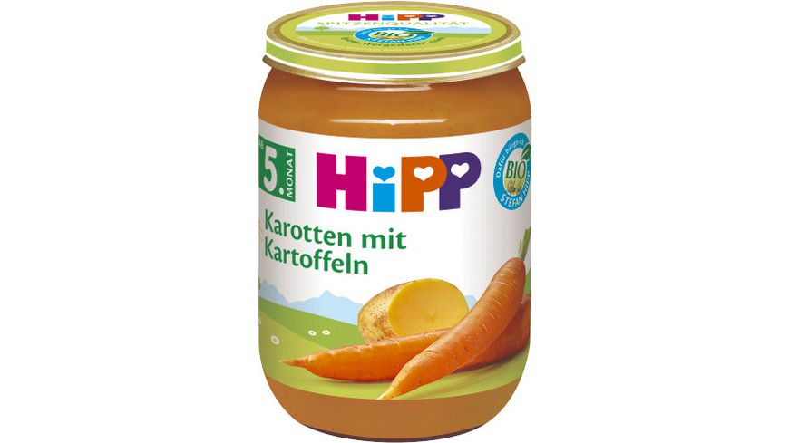 HiPP Bio Gemüse, Karotten mit Kartoffeln, 190g
