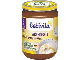 Bebivita Babyglaeschen Abendbrei Griess Banane Apfel
