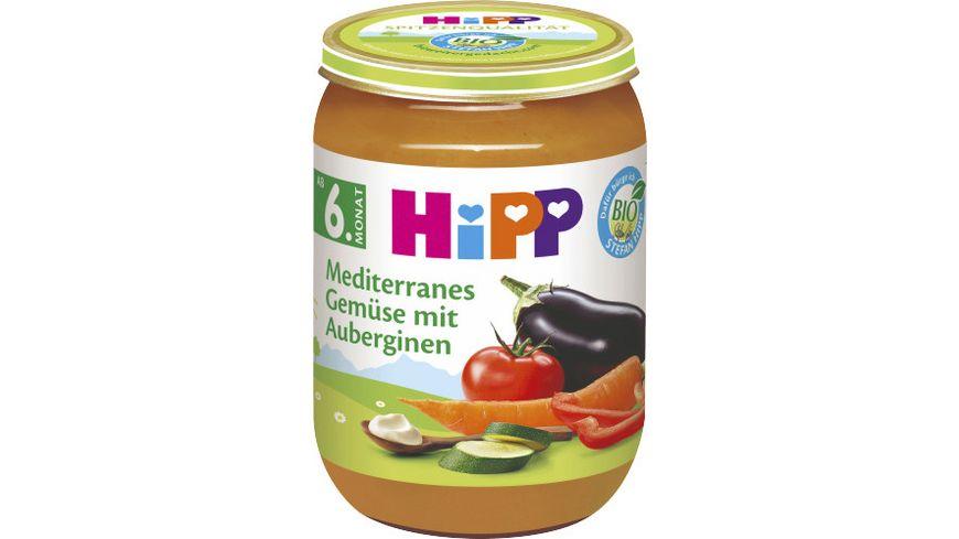 HiPP Gemüse 190g: Mediterranes Gemüse mit Auberginen, ab 6. Monat