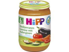 HiPP Babyglaeschen Mediterranes Babyglaeschen mit Auberginen