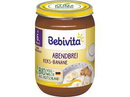 Bebivita Babyglaeschen Abendbrei Keks Banane
