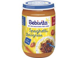 Bebivita Babyglaeschen Brei Spaghetti Bolognese ab dem 8 Monat