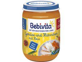 Bebivita Menues nach dem 4 Monat Gemuese und Huehnchen mit Reis