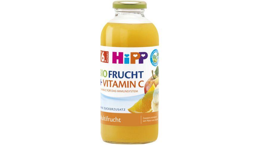 HiPP BIO Fruchtsaft und Vitamin C 0,5l: Multifrucht - ohne Zuckerzusatz, ab 6. Monat