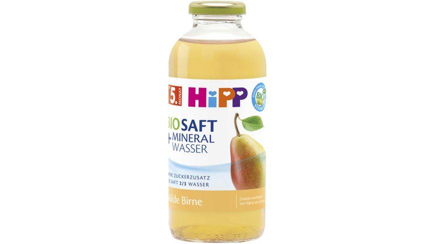 HiPP Bio Saft Mineralwasser Milde Birne