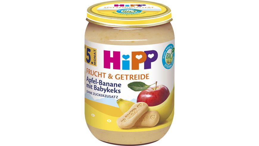 HiPP Babygläschen Brei Apfel-Banane mit Babykeks