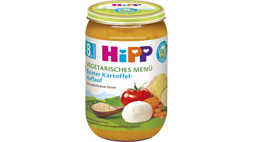 HiPP Menues ab 8 Monat Bunter Kartoffel Auflauf