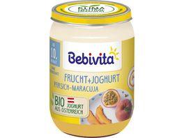 Bebivita Frucht Joghurt Quark DUO Pfirsich Maracuja Joghurt