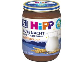 HiPP Gute Nacht ohne Zuckerzusatz Griessbrei pur