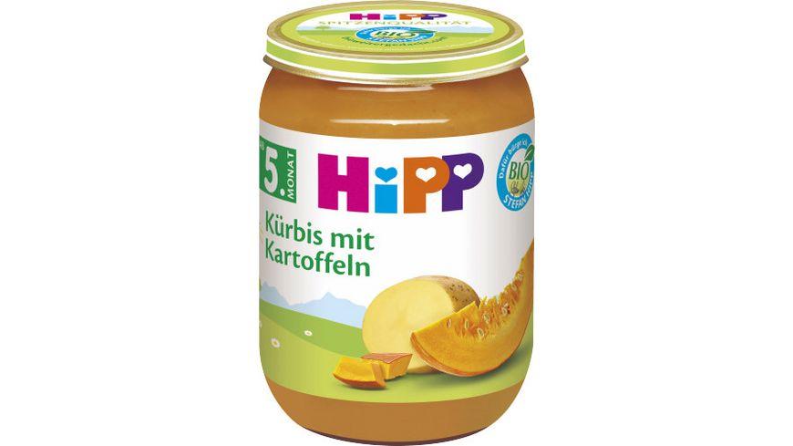 Hipp Gemüse: Kürbis mit Kartoffeln 190 g, ab 5. Monat