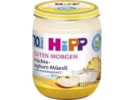 HiPP Babyglaeschen Brei Fruechte Joghurt Muesli