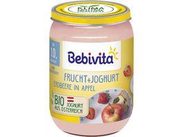 Bebivita Frucht Joghurt Erdbeere in Apfel