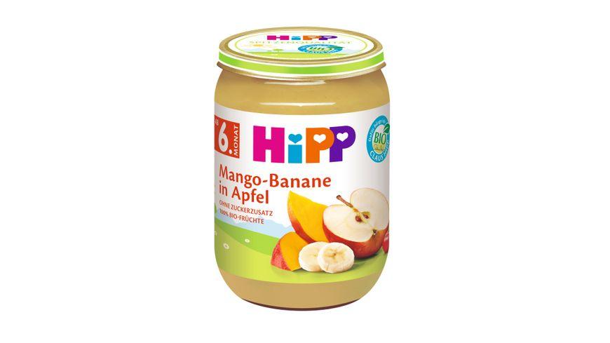 HiPP Fruechte Mango Banane in Apfel
