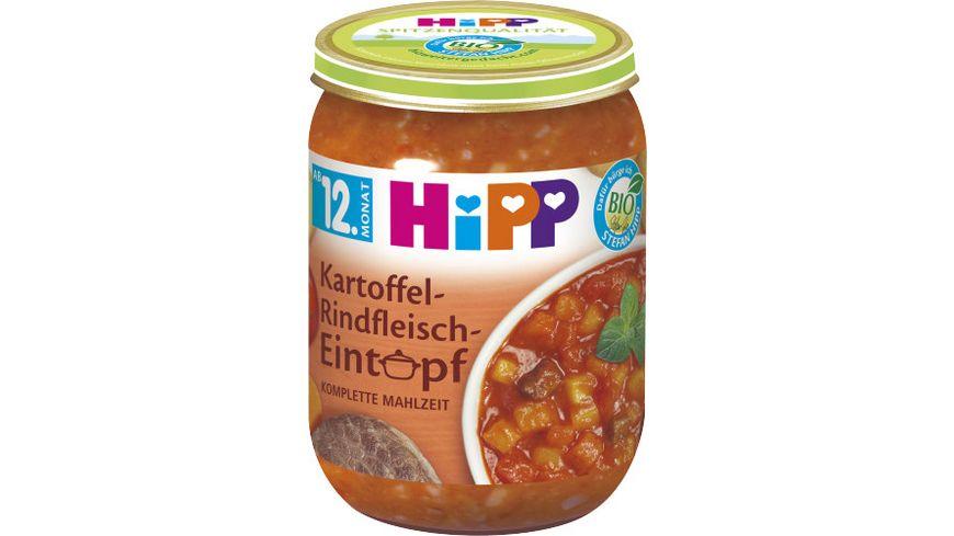 HiPP Eintoepfe ab 12 Monat Kartoffel Rindfleisch Eintopf