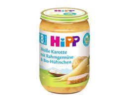 HiPP Menues ab 8 Monat Weisse Karotte mit Rahmgemuese und Bio Huehnchen
