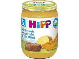 HiPP Menues nach dem 4 Monat Kuerbis mit Kartoffeln und Bio Rind