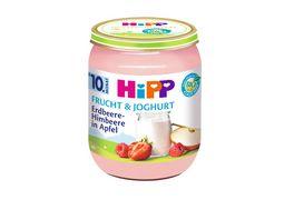 HiPP Frucht Joghurt Erdbeere Himbeere in Apfel