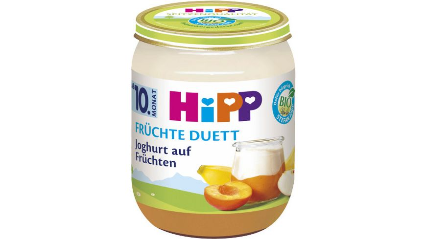 HiPP Fruechte Duett Joghurt auf Fruechten