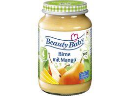 Beauty Baby Babyglaeschen Fruchtbrei Birne Mango