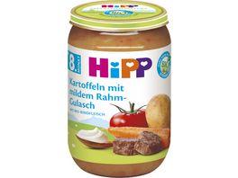 HiPP Menues ab 8 Monat Kartoffeln mit mildem Rahm Gulasch