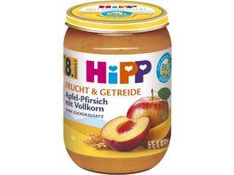 HiPP Bio Frucht und Getreide Apfel Pfirsich mit Vollkorn ohne Zuckerzusatz 190g