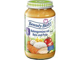 Beauty Baby Bio Rahmgemuese mit Reis und Pute