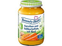 Beauty Baby Bio Karotten und Suesskartoffeln mit Rind