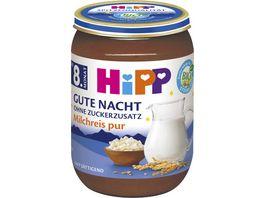 HiPP Bio Gute Nacht ohne Zuckerzusatz Milchreis pur 190g