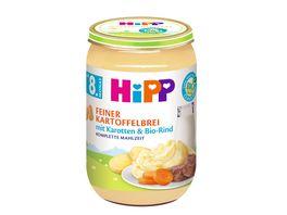 HiPP Menues ab 8 Monat Feiner Kartoffelbrei mit Karotten Bio Rind