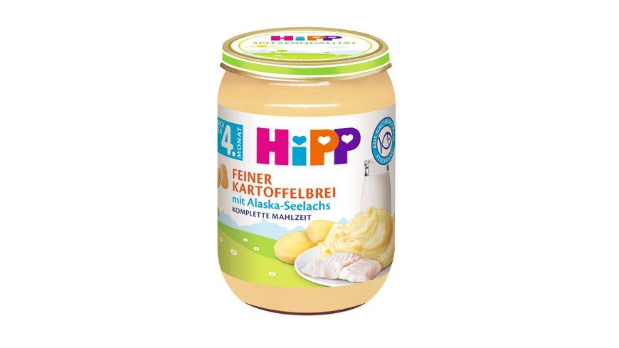 HiPP Menues nach dem 4 Monat Feiner Kartoffelbrei mit Alaska Seelachs