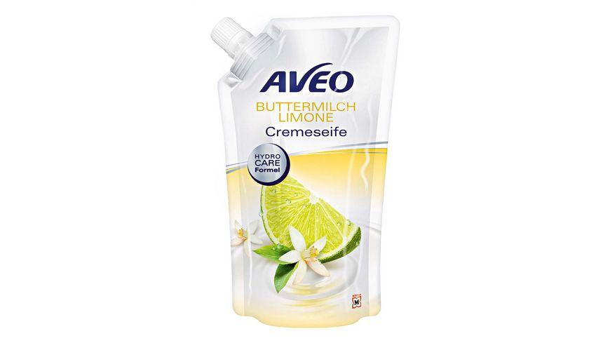 AVEO Cremeseife Buttermilch Limone Nachfuellbeutel