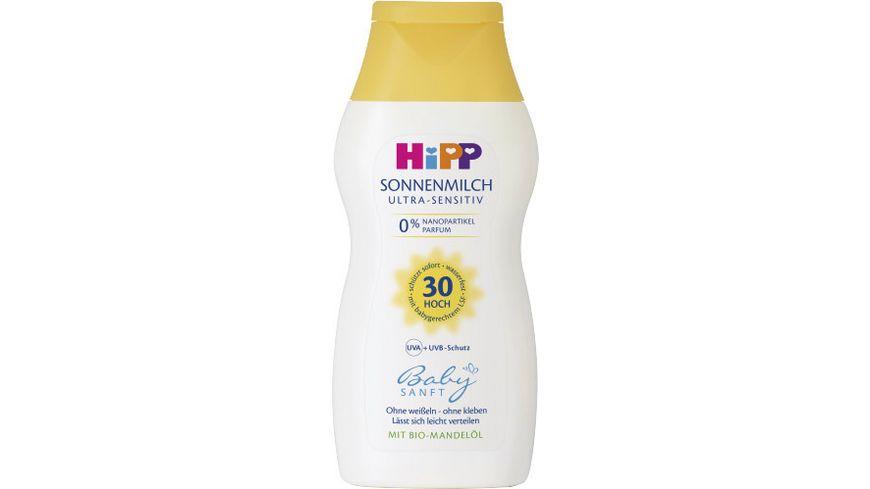 HiPP Babysanft Sonnenmilch, LSF 30, 200 ml