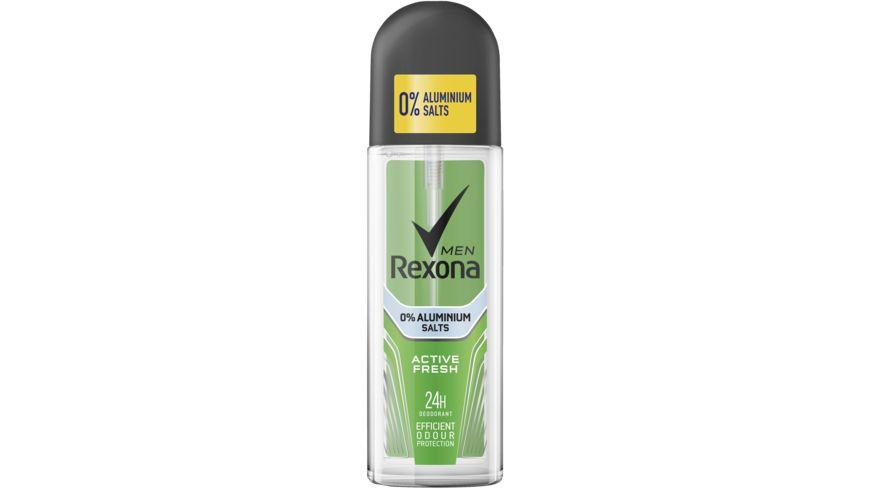 Rexona Men Deodorant Zerstaeuber Active Fresh ohne Aluminium