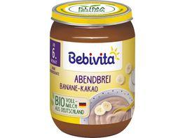 Bebivita Babyglaeschen Abendbrei Banane Kakao