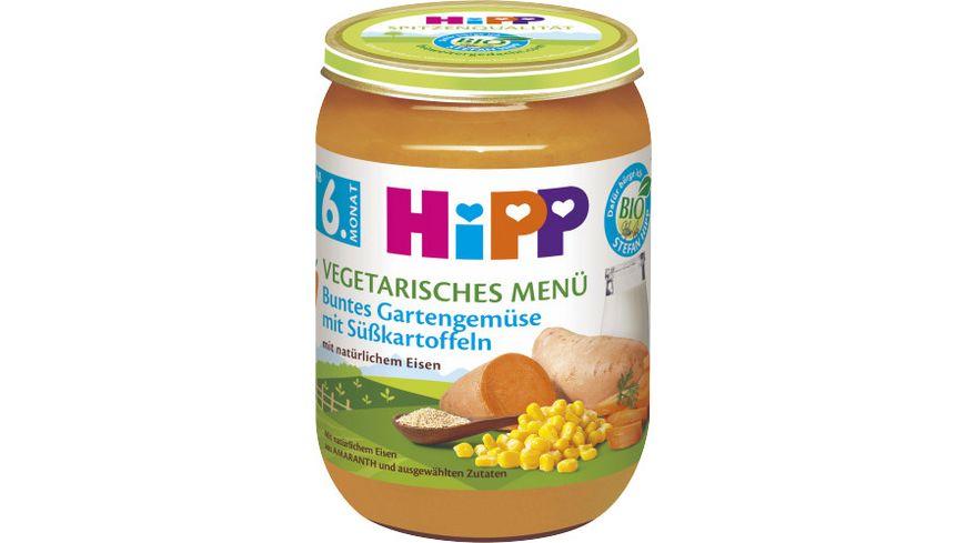 HiPP Menues ab 6 Monat Buntes Gartengemuese mit Suesskartoffeln
