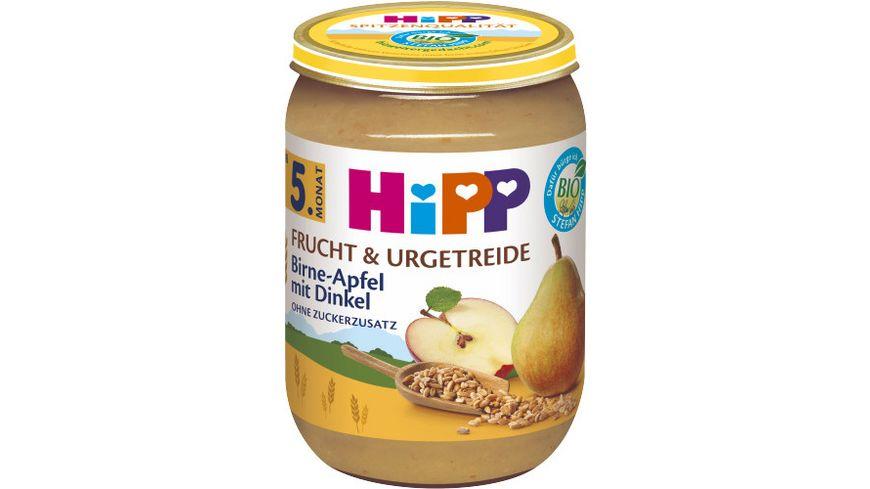 HiPP Frucht Getreide Birne in Apfel mit Dinkel