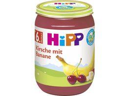 HiPP Fruechte 190g Kirsche mit Banane ohne Zuckerzusatz ab 6 Monat