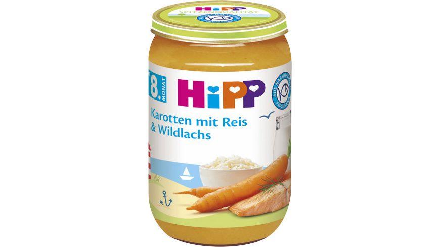 HiPP Menues ab 8 Monat Karotten mit Reis und Wildlachs