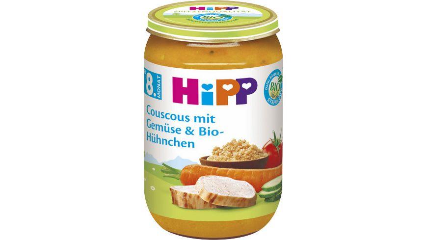 HiPP Menues ab 8 Monat Couscous mit Gemuese und Bio Huehnchen