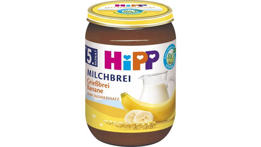 HiPP Milchbreie Griessbrei Banane