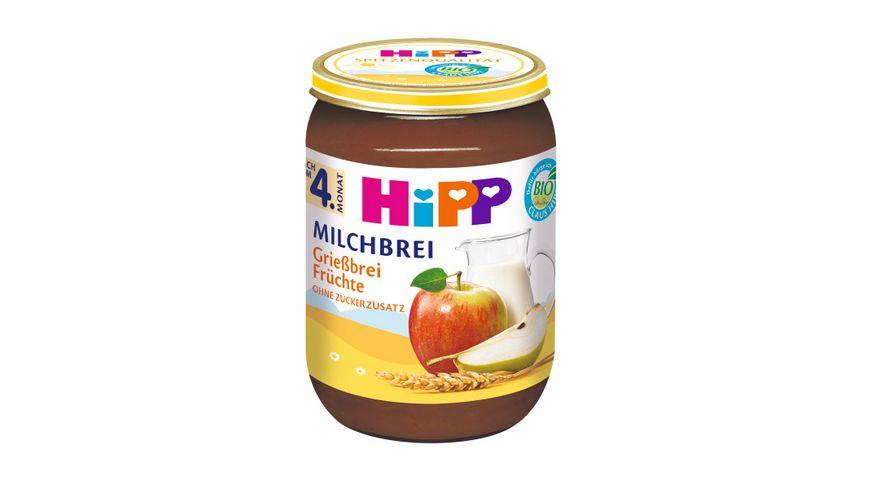 HiPP Milchbreie Griessbrei Fruechte