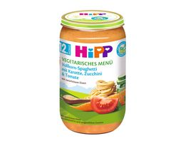HiPP Menues ab 12 Monat Vollkorn Spaghetti mit Karotte Zucchini und Tomate