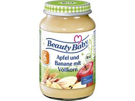 Beauty Baby Babyglaeschen Brei Apfel Banane Vollkorn