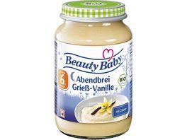 Beauty Baby Babyglaeschen Abendbrei Griessbrei Vanille