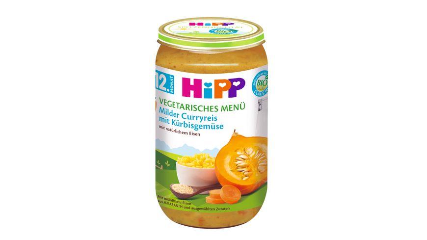 HiPP Menues ab 12 Monat Milder Curryreis mit Kuerbisgemuese